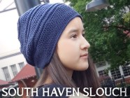 South Haven Slouch  |  Free Slouchy Hat Crochet Pattern by Little Monkeys Crochet