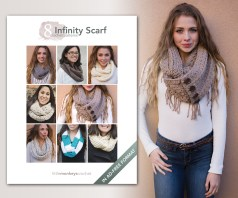 8 Infinity Scarf Crochet Patterns | E-Book by Little Monkeys Crochet