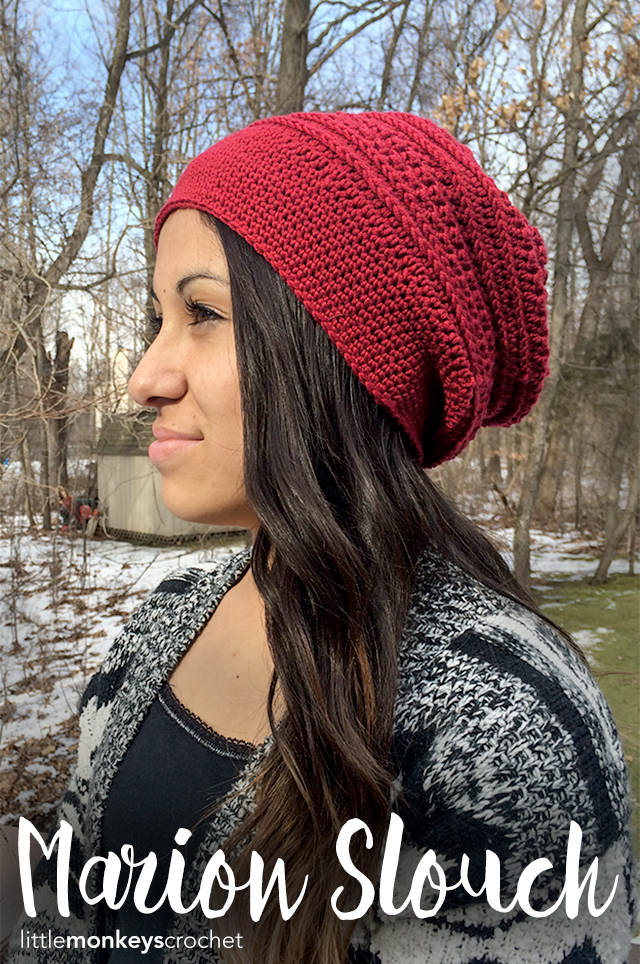Marion Slouch Hat Crochet Pattern Little Monkeys Crochet