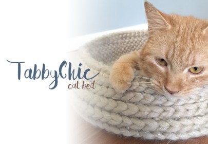 Tabby Chic Cat Bed Crochet Pattern  |  Free Cat Bed Crochet Pattern by Little Monkeys Crochet
