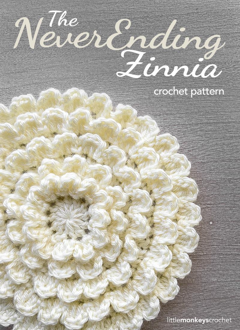 Neverending Zinnia Crochet Pattern | Little Monkeys Crochet
