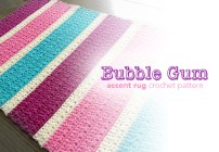 Bubble Gum Accent Rug Crochet Pattern made with Kitchen Cotton yarn from Lion Brand  |  Free crochet pattern by Little Monkeys Crochet
