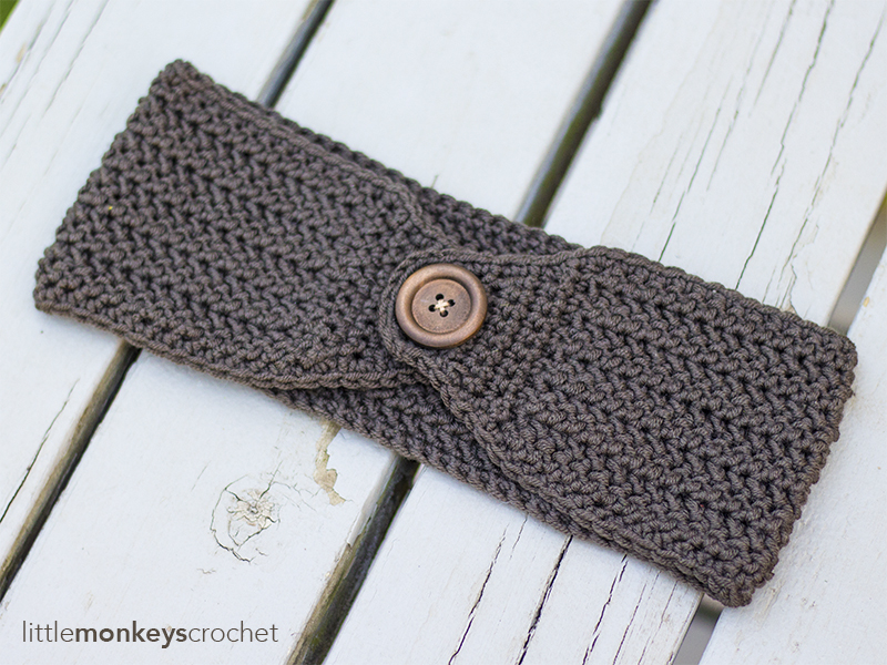 Easy Herringbone Earwarmer Little Monkeys Crochet
