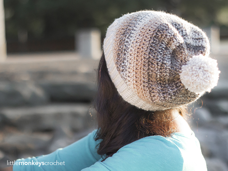 Riverbed Slouch Hat Crochet Pattern | Free slouchy hat crochet pattern by Little Monkeys Crochet