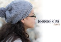Herringbone Slouch Crochet Pattern  |  Free slouchy hat crochet pattern by Little Monkeys Crochet