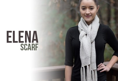 Elena Scarf Crochet Pattern  |  Free classic winter scarf crochet pattern by Little Monkeys Crochet