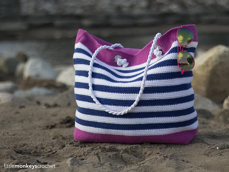 Classic Beach Bag Crochet Pattern Little Monkeys Crochet