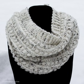 Malia Classic Cowl Crochet Pattern | Winter Cowl Scarf Crochet Pattern by Little Monkeys Crochet