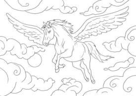 Coloriage cheval 4