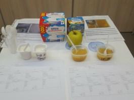 Dégustation de compote de pommes