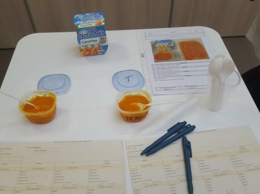 Dégustation de purée de carottes