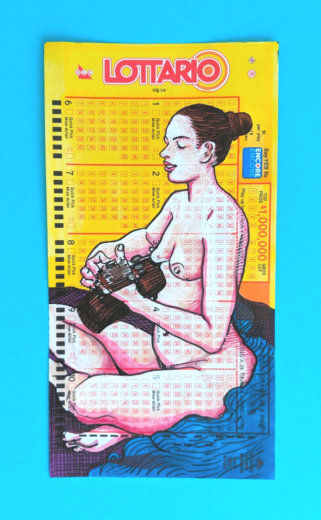 Model Plays Guitar on lotto Collective Drawing Group Nicole Little