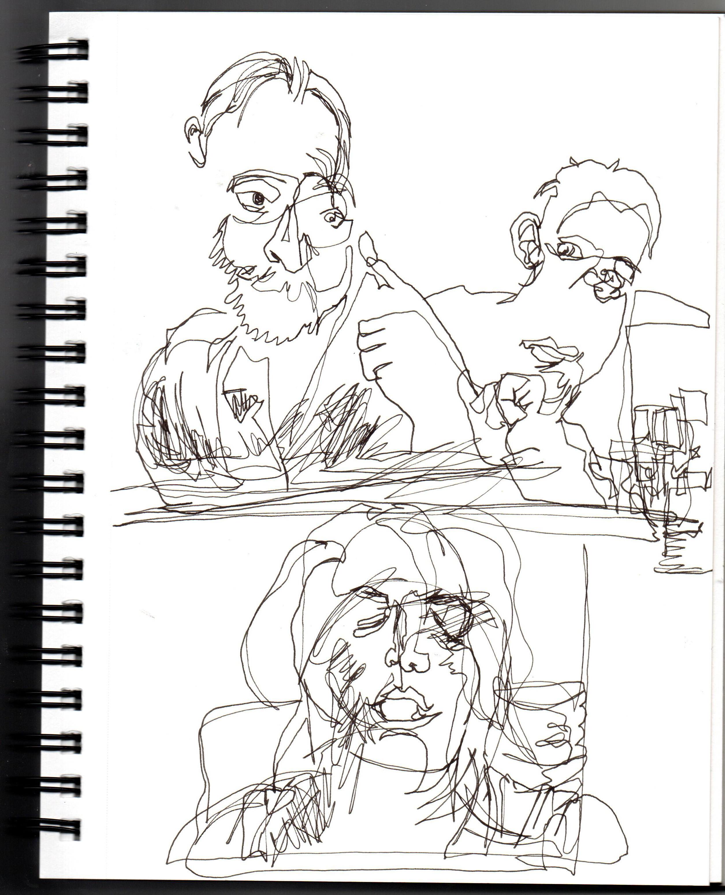 April 30th 2020 3 Blind Contour Portraits