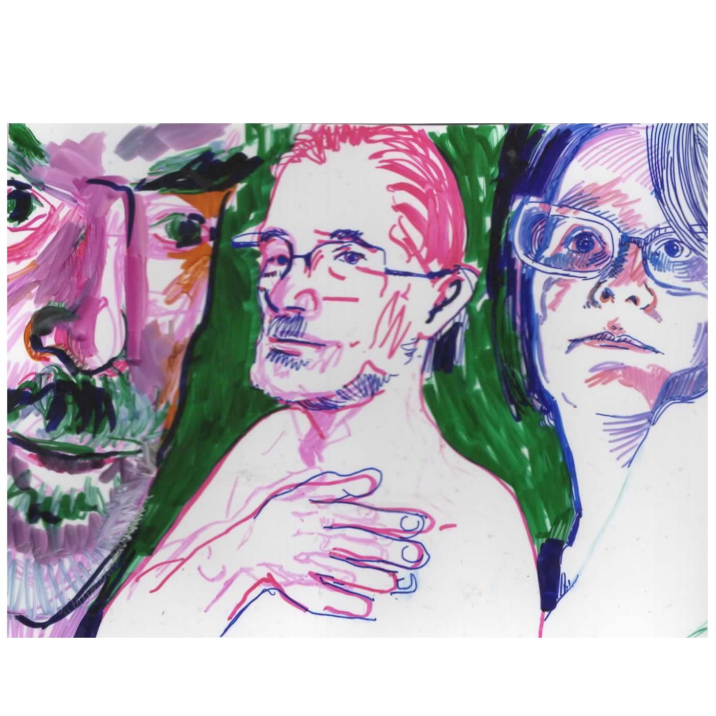 Jake Brian and Gila Shrink Film Trio Portraits