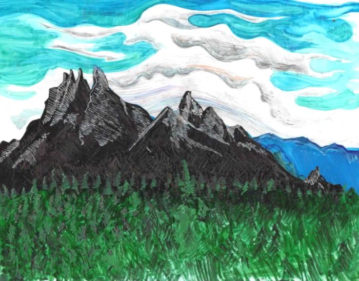 Thomas Hart Benton sky over Missouri Mountains NEOLittle Shrink Film