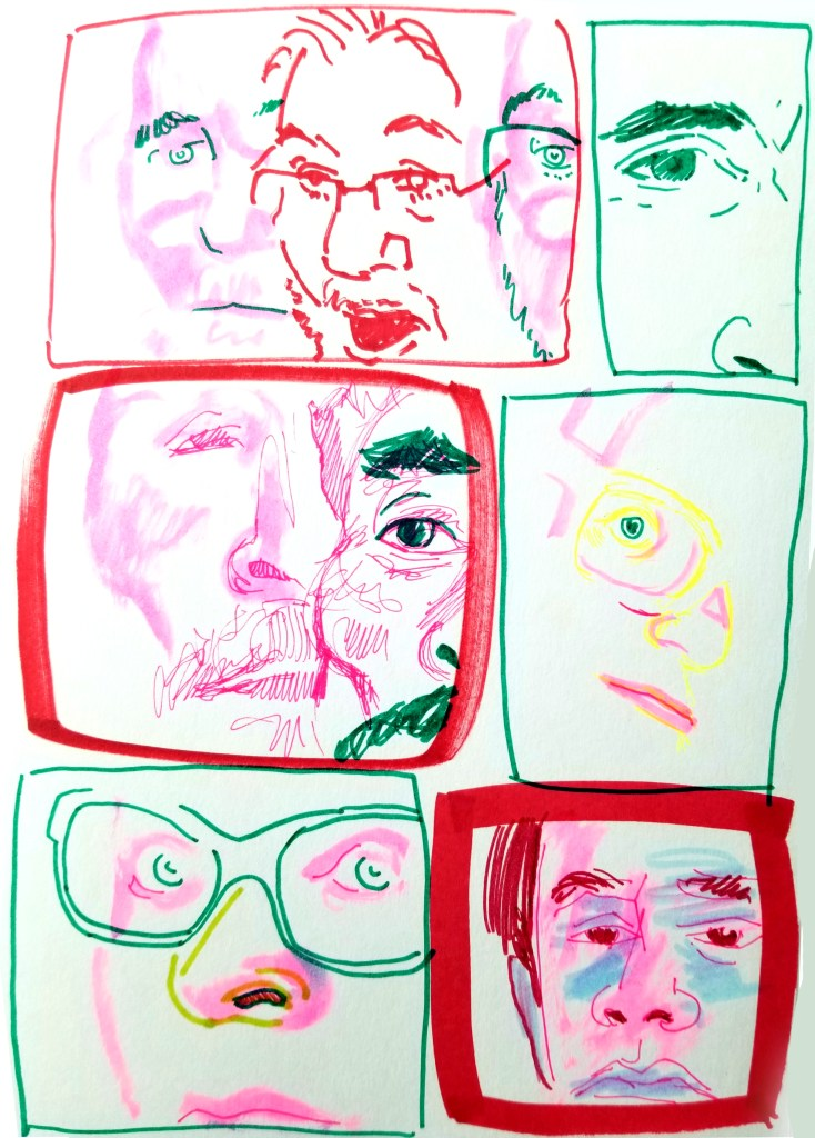 6 quick panels with marker portraits