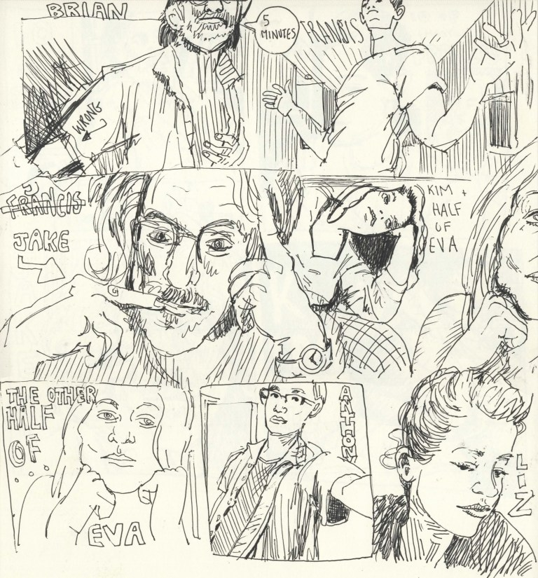Comic Panels for the Collective - 5 minute poses