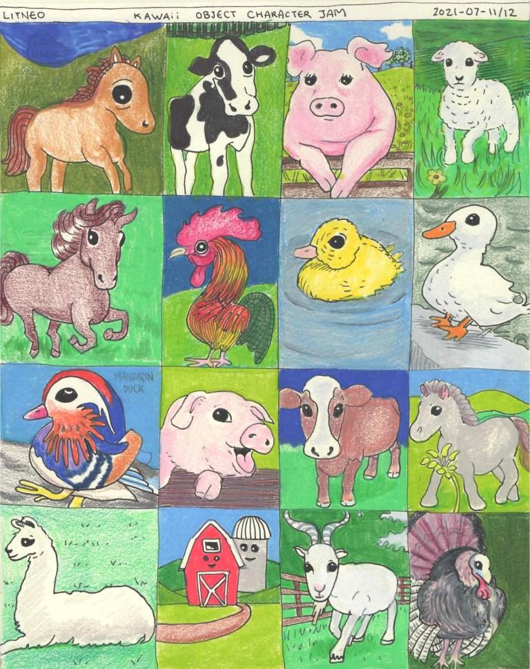 kawaii Farm Animals