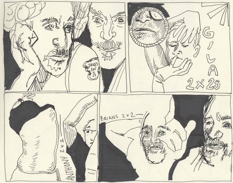 2 two minute portrait drawings