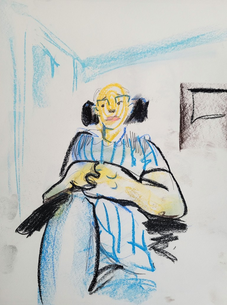 Five Minute Portrait - Soft Pastels and Pencil