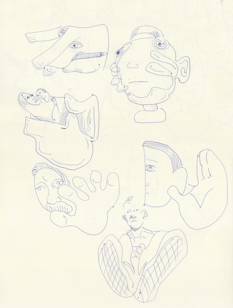 A Series of Quick Sketches based on Momentary Glances at Subjects