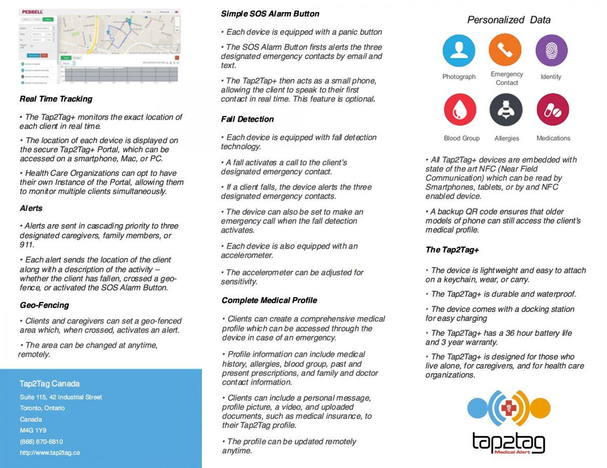 Tap2Tag+ Elderly Care 3 Part Brochure part 2