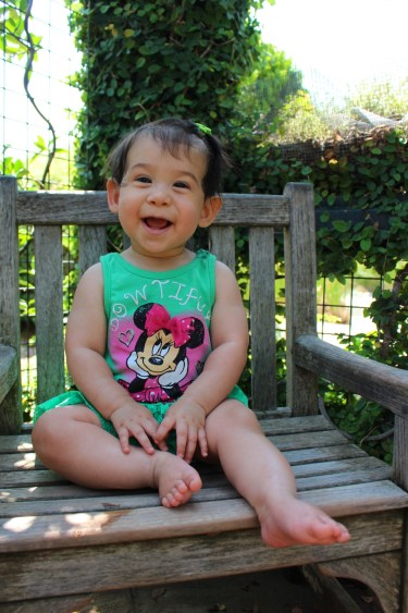 I didn't take many pictures on our visit to the Huntington Library, but how cute is this one? Z Nugg - 8 months.