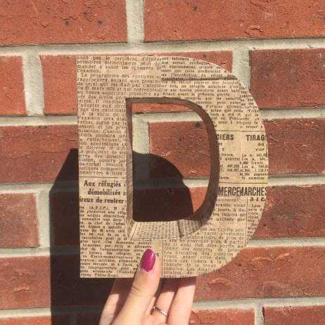 Decoupage Letter