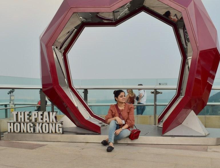 VIEW AT VICTORIA PEAK HONGKONG