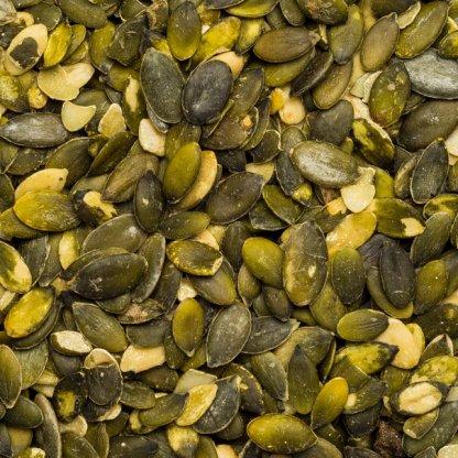 Close up pumpkin seeds organic.