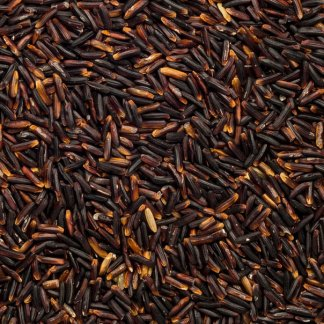 close up of Black Rice Thai Hom Organic