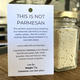 Vegan Parmesan Willicrofts