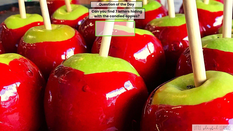 Seesaw: letter hunt - apple theme