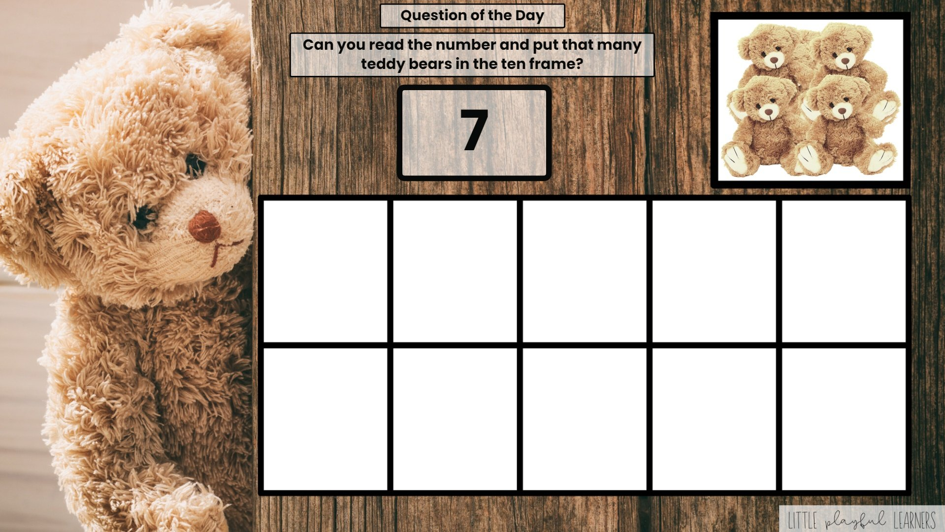 Seesaw: Counting and Number ID - teddy bear theme