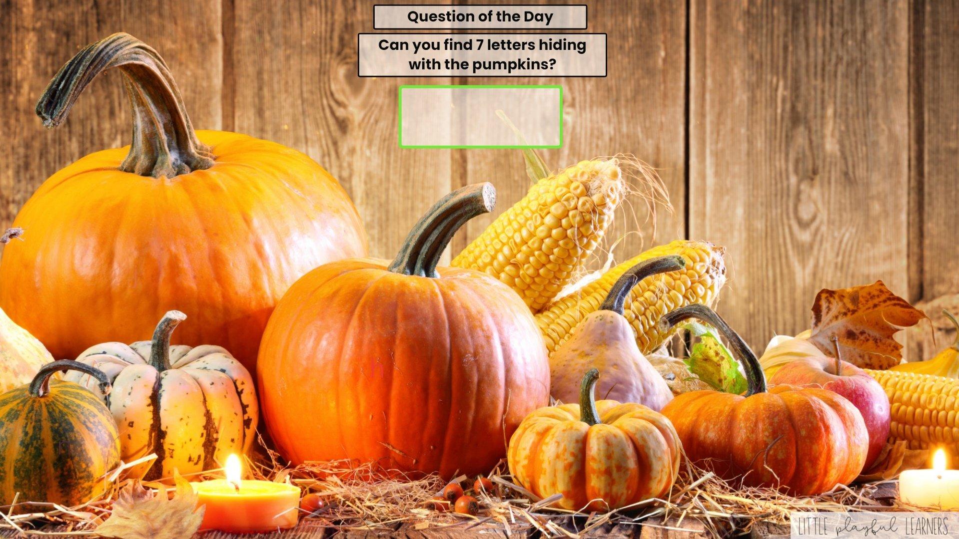 Seesaw: letter hunt - pumpkin theme