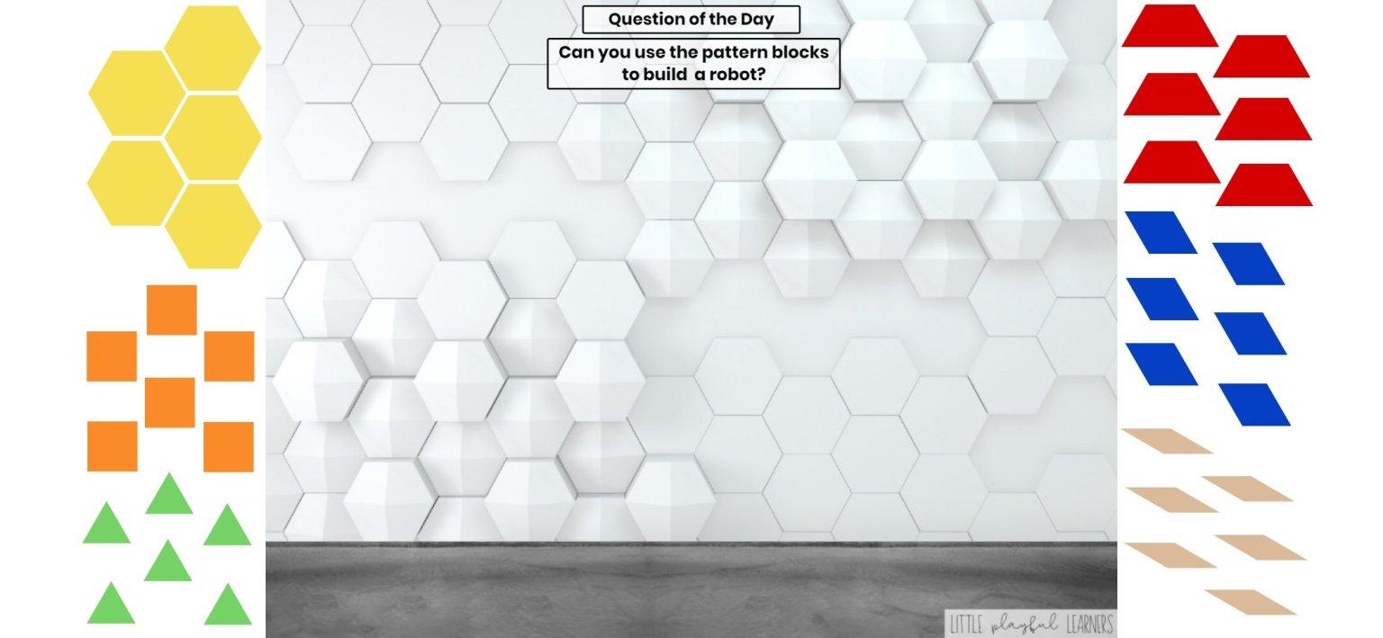 Seesaw: Pattern block challenge - robot theme