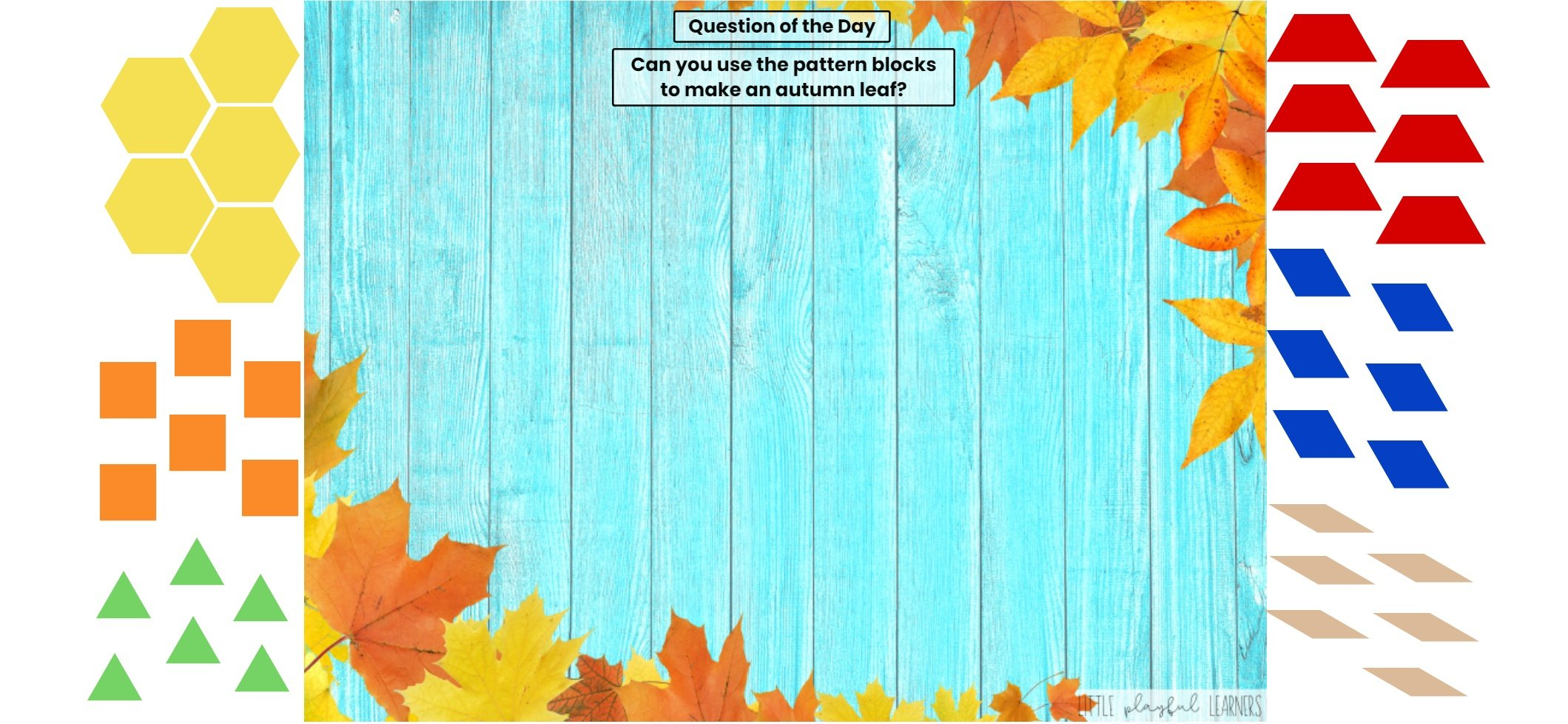 Seesaw: Pattern block challenge - autumn leaves theme