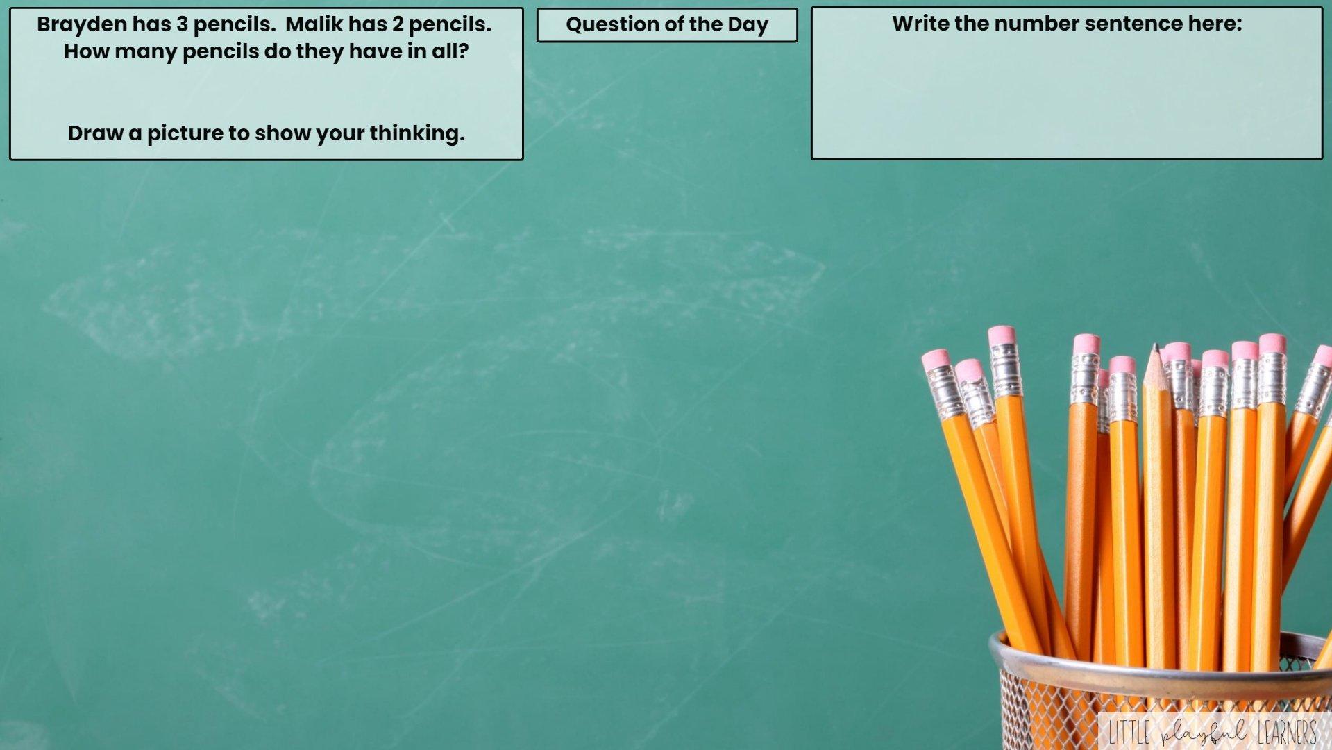 Seesaw: Story problem - school supplies theme