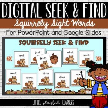 Digital Seek & Find: Squirrely Sight Words