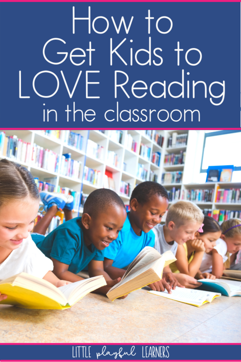 6 students happily reading books in a classroom