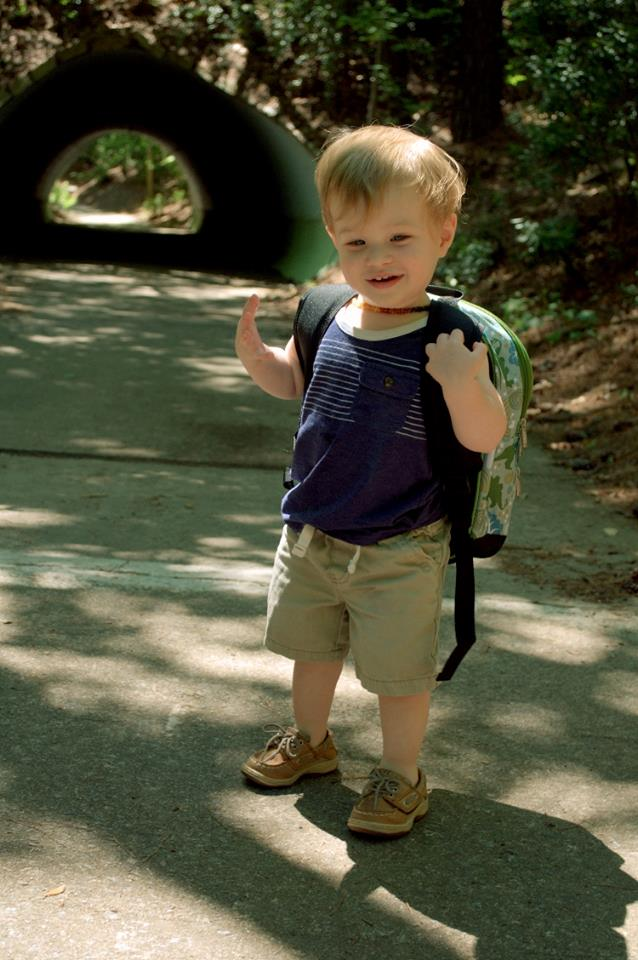 backpack at the zoo