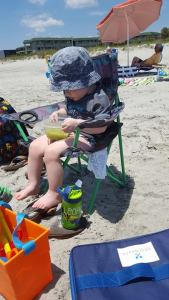 toddlers at the beach