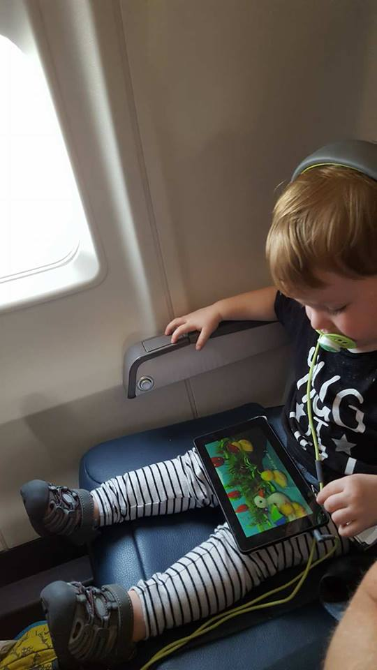 flying with toddlers-lap baby-delta-united-first flight