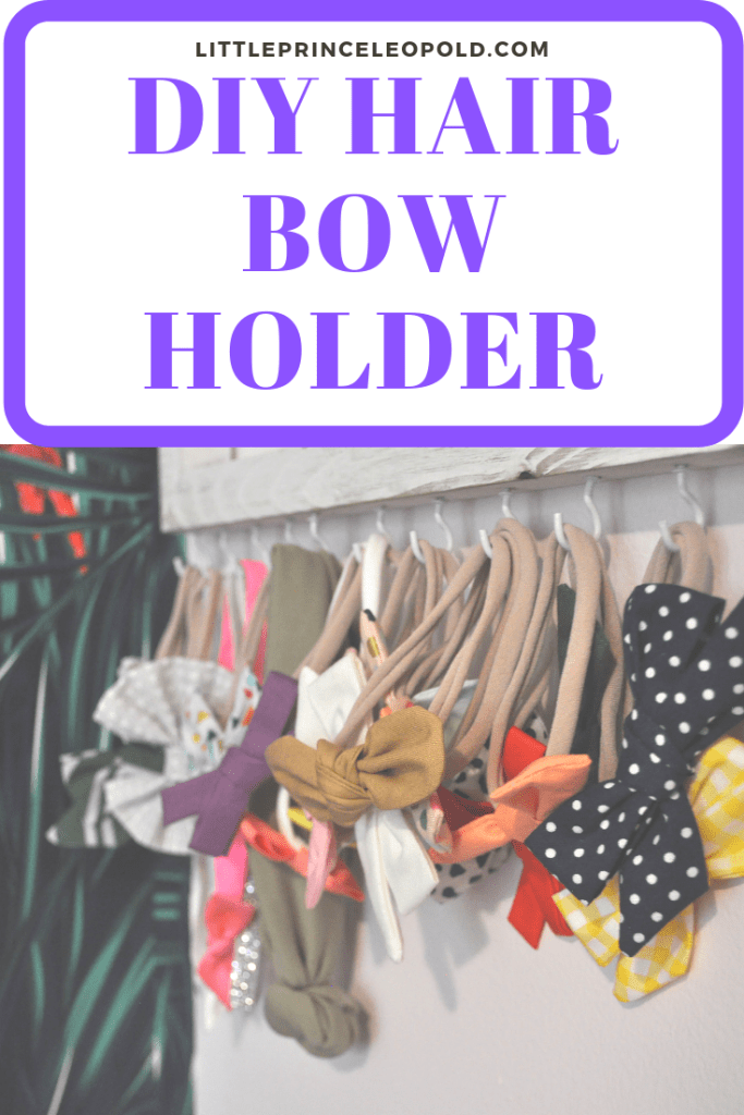 DIY Hair bow holder baby girl nursery decor affordable walmart