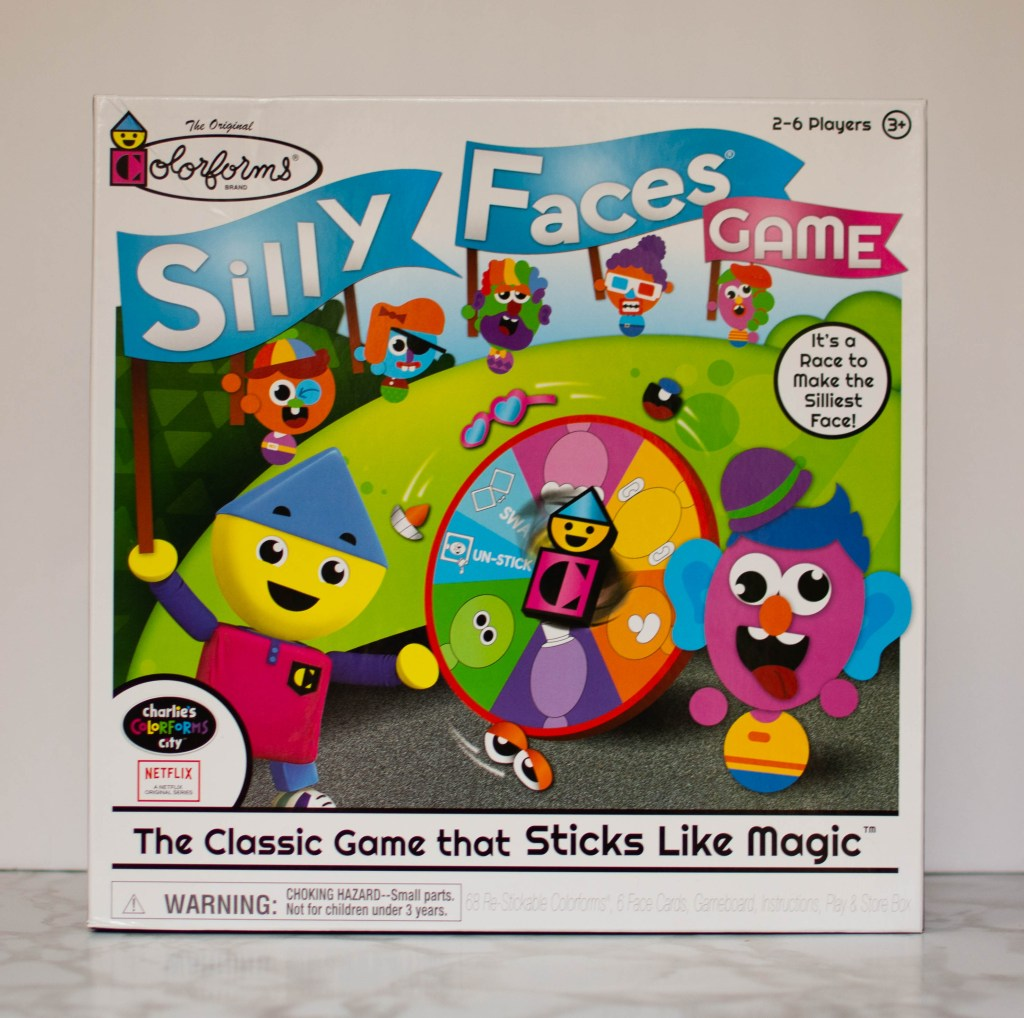 charlie's colorforms city silly faces game