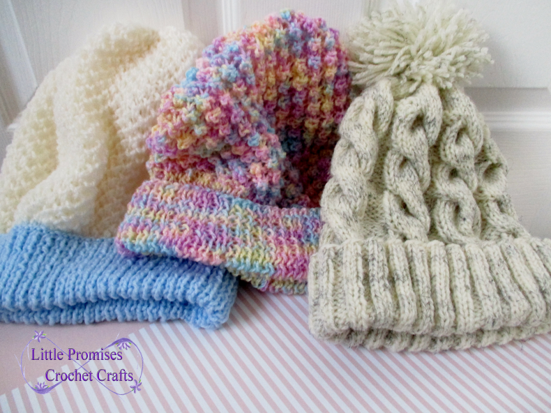Three Knitted Hats