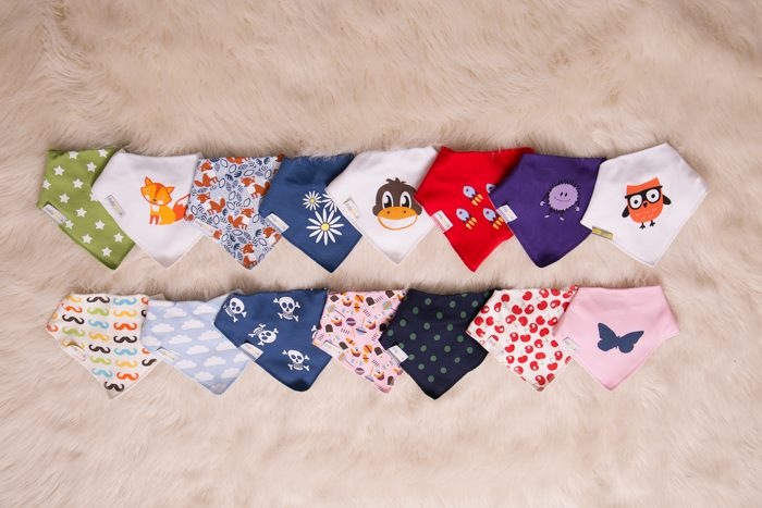 A selection of just some of the Bibs on Babyboo.ie