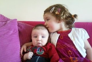 Hailey and baby Conor.x