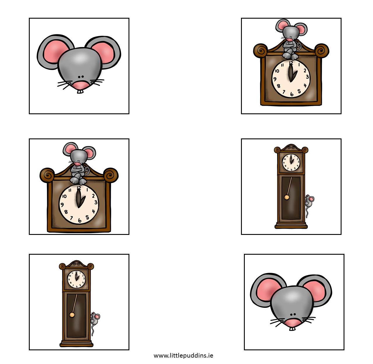 Hickory Dickory Dock Printable Little Puddins