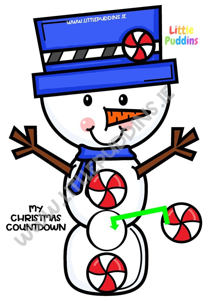 FREE Snowman Countdown Printable